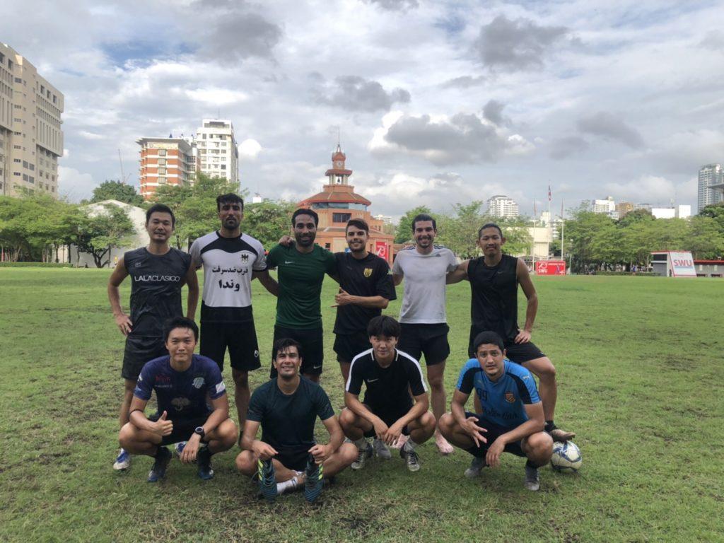 多くの外国籍選手も参加した今回のグループトレーニング