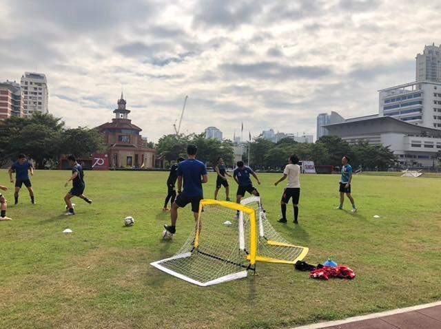 バンコクの中心地でのトレーニング
