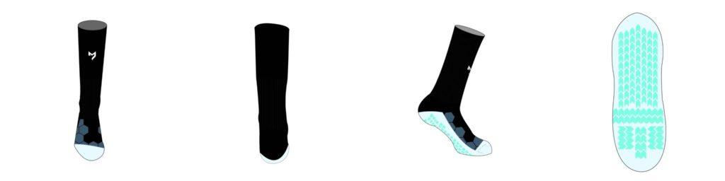 ロンググリップソックスのクラシコ(ブラック)